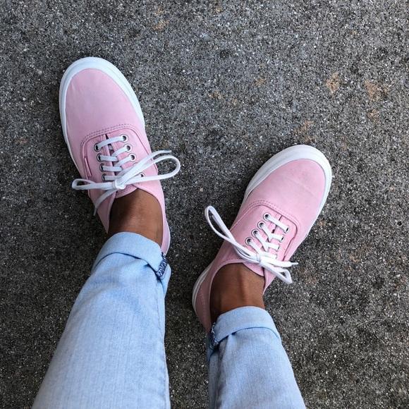 Light Pink Laceup Vans | Poshmark